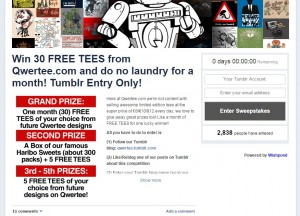 Successful Example for Running Contests: Qwertee