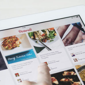 Pinterest Board displayed on a Tablet