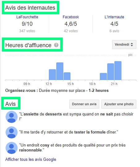 Google my business avis clients période affluence référencement naturel