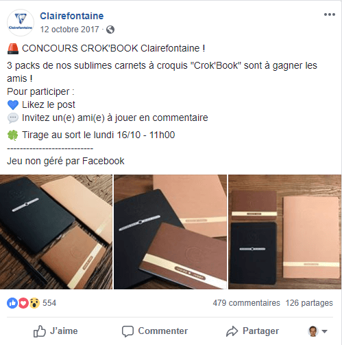 Concours Facebook Clairefontaine