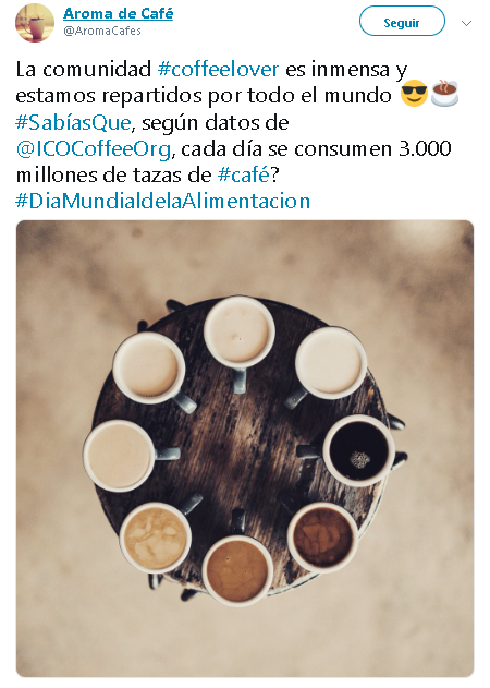 Hashtags en captios de marketing de contenidos