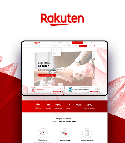 Création Site Internet Rakuten Corporate